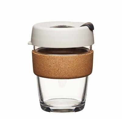 KeepCup Brew Cork Reusable Glass Coffee Travel Mug | Medium 12oz / 340ml, Filter