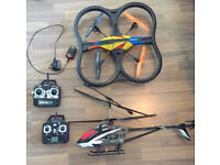 LARGE FOAM DRONE AND HELICOPTER