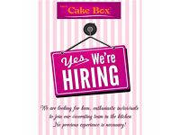Cake decorators and Sales assistant wanted for Cake Box