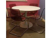 IKEA DINING TABLE AND 4 CHAIRS (COLLECTION ONLY)