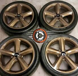 "18"" Genuine Audi S Line alloys refurb gloss Bronze Metallic, tyres 245/40×18"