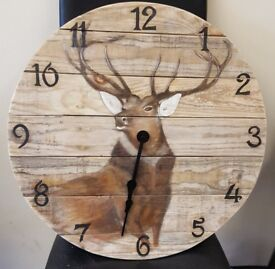 Mr Majestic. Original one off hand made, hand painted Stag clock