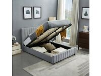 New Lucy ottoman storage bed frame in double size only-Cash on delivery