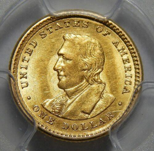 1905 PCGS MS62 LEWIS & CLARK GOLD DOLLAR COMMEMORATIVE