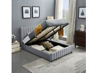 Brand new lucy ottoman storage bed frame in double/king size-Cash on delivery