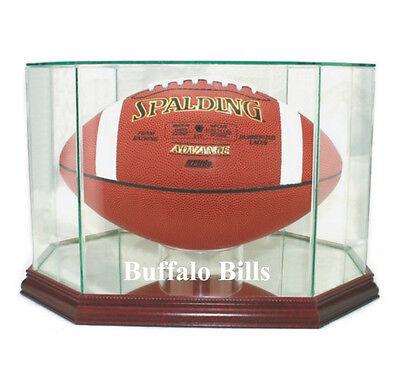 (Buffalo Bills F/S Glass Football Display Case NFL New UV FREE SHIPPING Made USA)