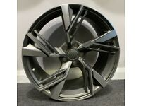 "19"" New RS6 (GM/POL) style alloy Wheels & Tyres Audi A3, A4 VW MK,6,7, Golf, Caddy, Jetta, Seat"