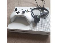 XBox One S console with controller