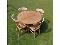 SOLD - Farmhouse style kitchen table an 4 chairs
