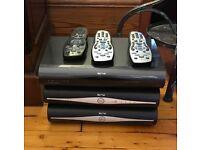 Sky HD Satellite Boxes - 3 All HD - 1 TByte HD Box 1 WI-FI Box 1 Std HD Box - Remotes included