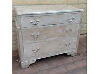 Chest Of 3 Drawers - Painted snd Waxed - 1920's/30's - Ready To Use - In Devon