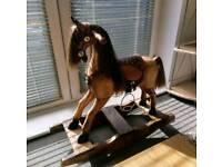 Vintage Rocking Horse Solid Wood