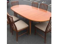 Extendable Dining Table & 6 Chairs by McIntosh
