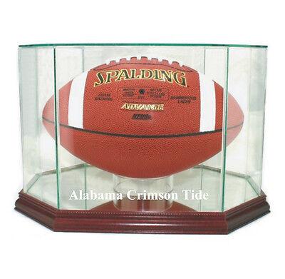 Alabama Crimson Tide F/S Football Display Case NCAA Glass & Mirror Made in USA