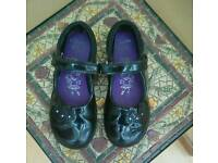 Girls clarks shoes size 10f
