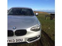 BMW 1 SERIES 2.0 DIESEL 116D SPORT 5DR £30 ROAD TAX FRESH MOT F20 SILVER 114 BHP