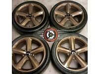 "18"" Genuine Audi S Line alloys refurb gloss Bronze Metallic, tyres 245/40×18."