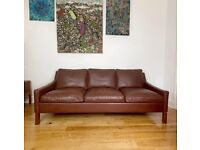 Vintage Mid Century Leather Sofa By Ope Möbler FREE LOCAL DELIVERY