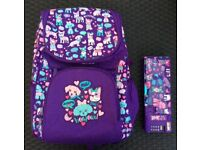 School backpack from Smiggle with pencil case in excellent condition
