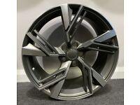 """18"""" New RS6 style alloy wheels & tyres Audi A3, A4, VW Jetta,Passat,Caddy Golf MK5,MK6,MK7 Etc 5x112"""