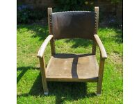 Two chairs both antique - one is Edwardian and one bought c1920 + 1 odd dining chair