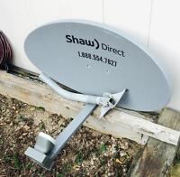 Shaw direct Dish and Dual LNB - Used!