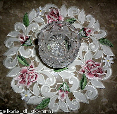 Floral Round Rose - Royal Rose Lace  Doily Flower Floral  11
