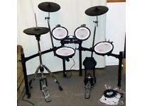 Roland V DRUMS TD-4KX2 & Goedrum Hi Hat Electronic Drum Kit inc hardware. Excellent