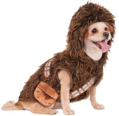 Haustier Hund Katze Chewbacca Star Wars Halloween Kostüm Outfit Verkleidung ()