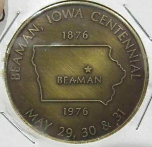 1976 Beaman, IA Centennial Token - Iowa