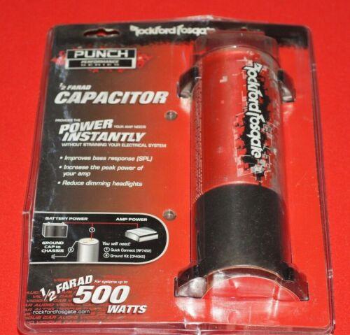 Rockford Fosgate CPC05-03 Punch Capacitor 1/2 Farad Brand New Sealed