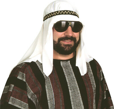 Sheik Headpiece Adult Costume Desert Prince Arab Arabian Sultan Kit Hat Shiek