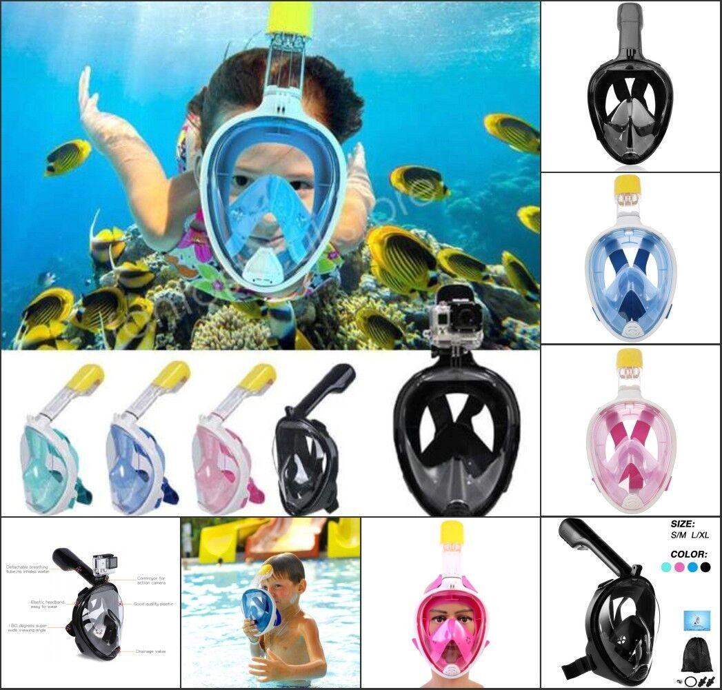 Tribord Easybreath Schnorchelmaske Tauchen Maske Vollmaske Snorkel Tauchmaske zr