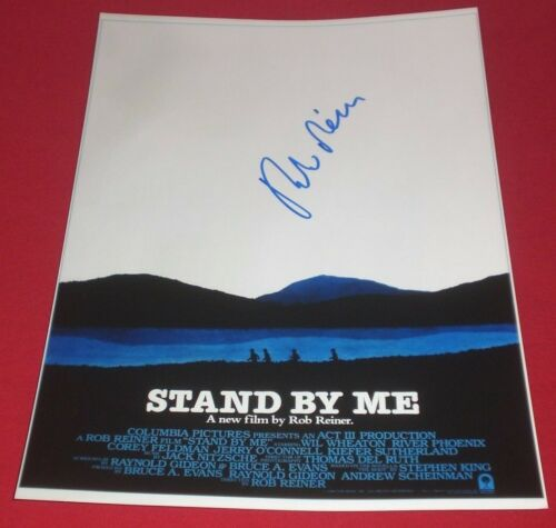 DIRECTOR ROB REINER SIGNED STAND BY ME CLASSIC 8X12 POSTER PHOTO AUTOGRAPH COA