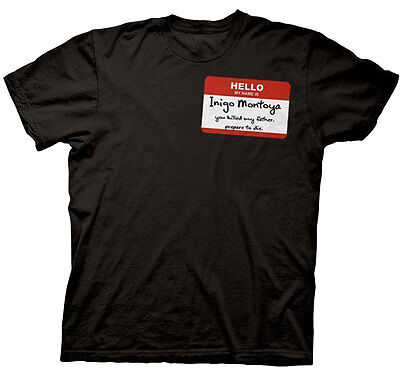 Official The Princess Bride Hello My Name Is Inigo Montoya T Shirt  Fantasy Movi