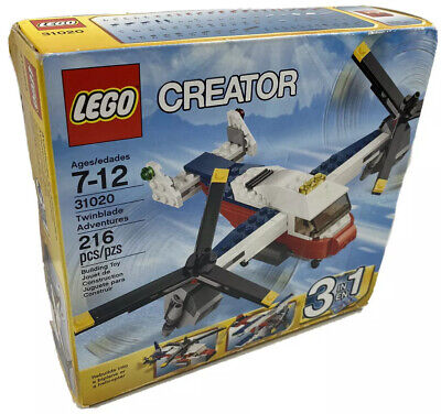 LEGO Creator Set Twinblade Adventure Helicopter Plane Toy 3 In 1 Pack NEW 31020