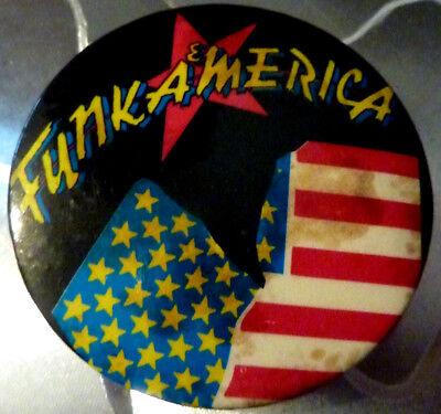 "FUNKAMERICA"", Badge Vintage 70s / 80s  2 ¼ """