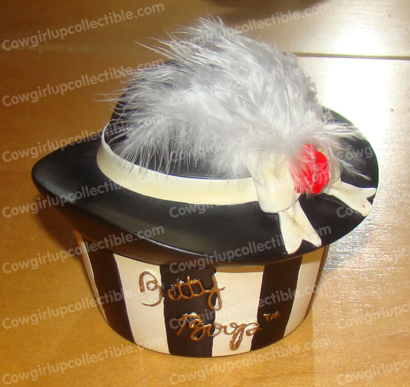 Betty Boop Feathered Glamour Trinket, Treasure Box (Pacific, 25891) Hat