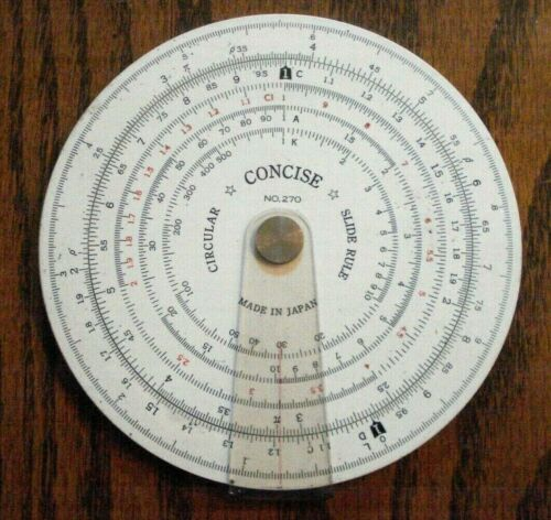Concise Lafayette Circular Slide Rule # 270 Made in Japan VGC Rare
