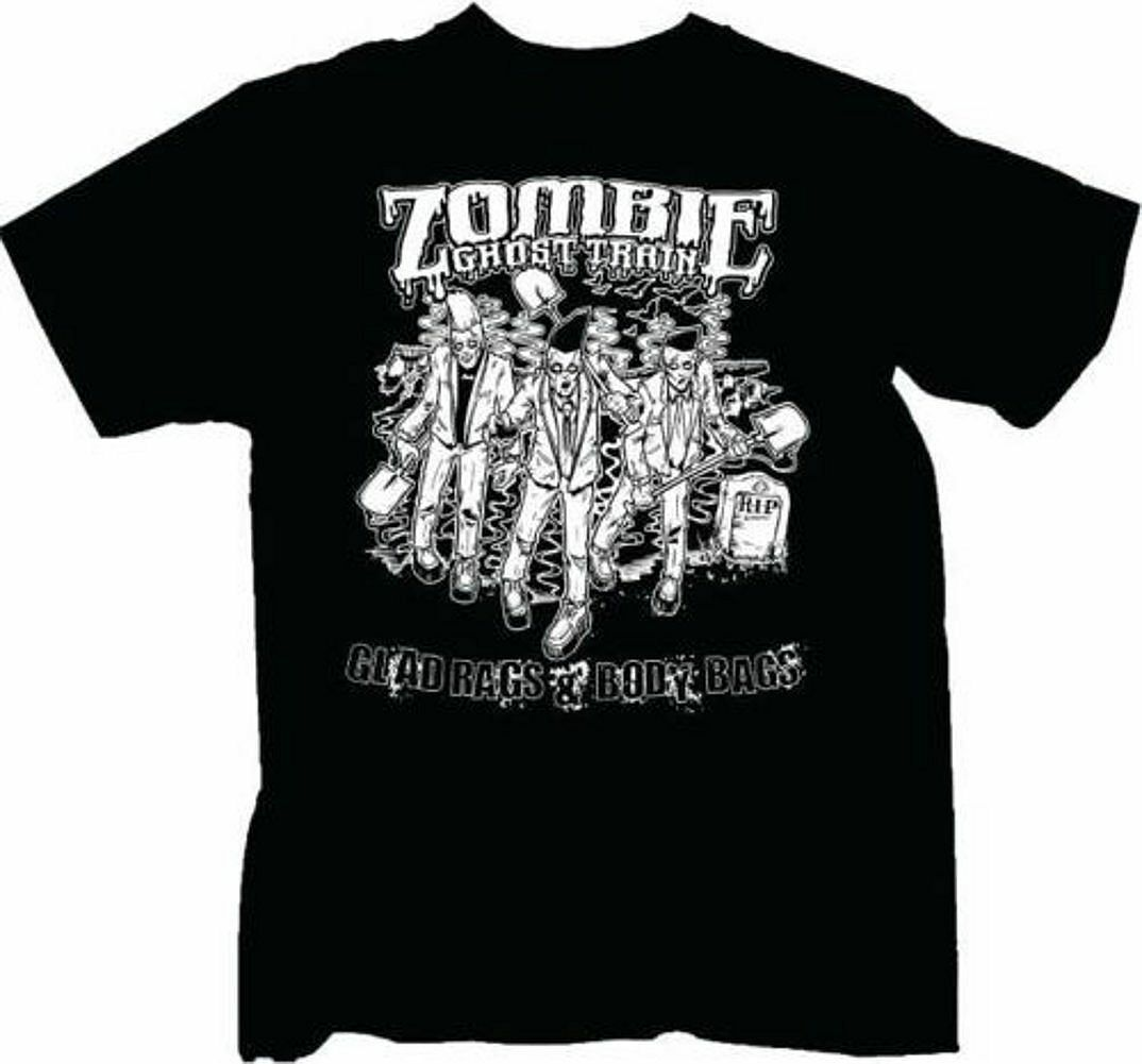 "Zombie Ghost Train 'Glad Rags"" T-Shirt - FREE SHIPPING"