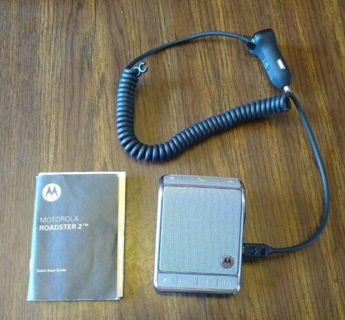 Motorola Roadster 2 TZ710 Wireless Bluetooth Car Speakerphone w/ Car Charger