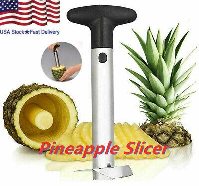Pineapple Corer Slicer Stainless Steel Fruit Cutter Peeler Easy Kitchen Gadget