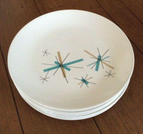 "Salem China North Star Dinner Plate mid century modern 9-1/8"" Starburst"
