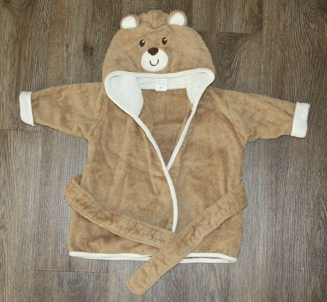 Luvable Friends 100 Cotton Hooded Baby Towel Bath Wrap Bear - $2.99