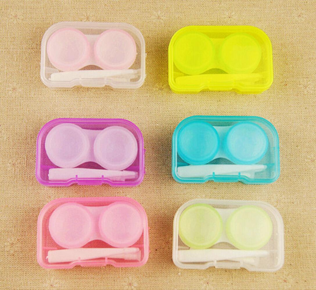 5X Contact Lenses Case Kit Cute Travel Eye Care Mini Set