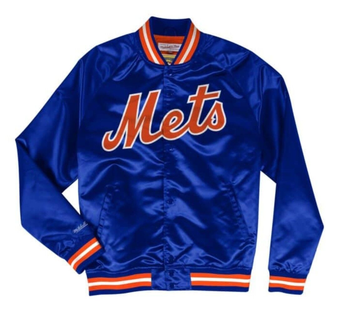 huge selection of 85b2b 800b4 Details about Authentic New York Mets Mitchell & Ness MLB Tough Seasons  Satin Light Jacket
