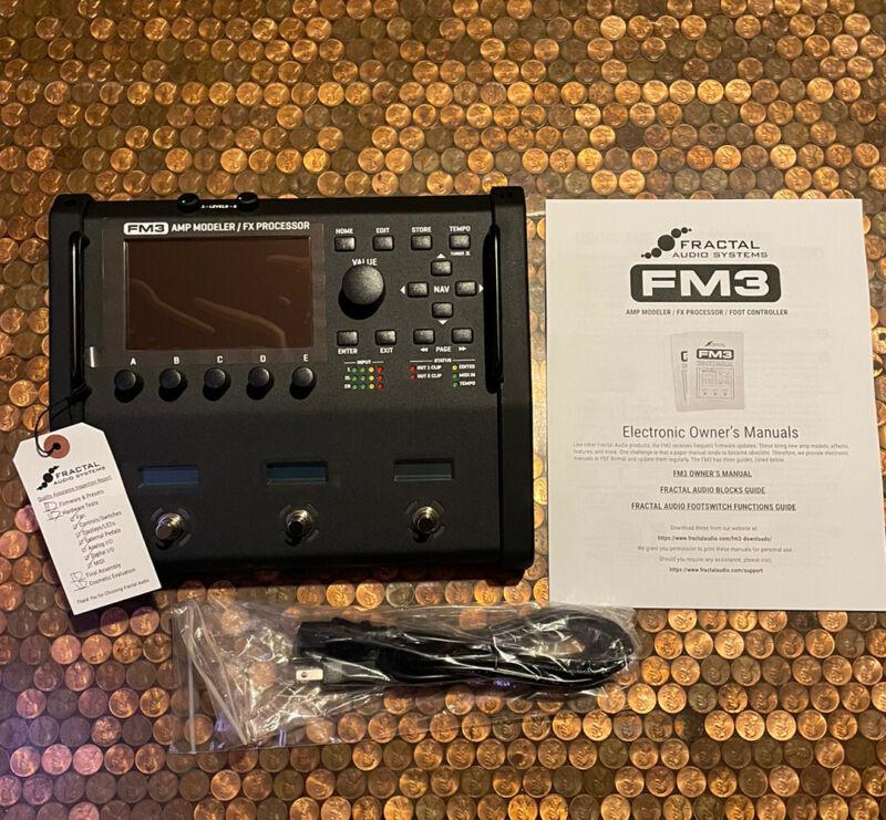 Fractal Audio FM3 Guitar Effects Modeler FX Processor Headphone Jack Brand New