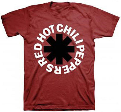 Official Red Hot Chili Peppers Black Asterisk T Shirt  Metal Rock Band Music Tee