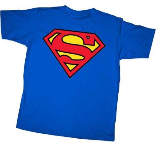 Official DC Comics Superman Classic Shield Logo Adult and Yo