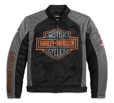 Harley-Davidson Men's Bar & Shield Logo Mesh Jacket Black 98233-13VM